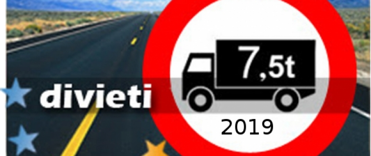 Italy Prohibitions 2018 – Mass Exceeding 7.5 tons