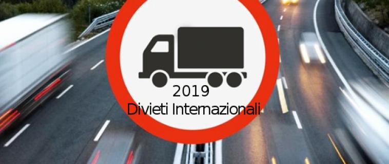 Divieti Internazionali 2019