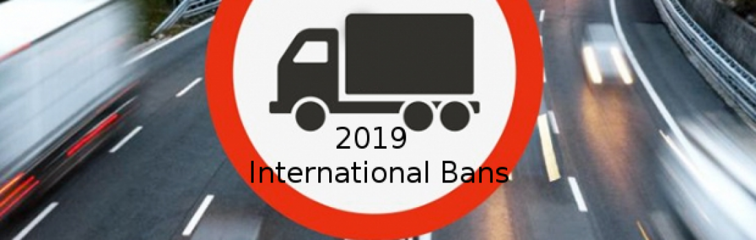 International Bans 2019